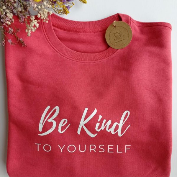 Be Kind To Yourself Sweatshirt (Carmine Red).RESIZE