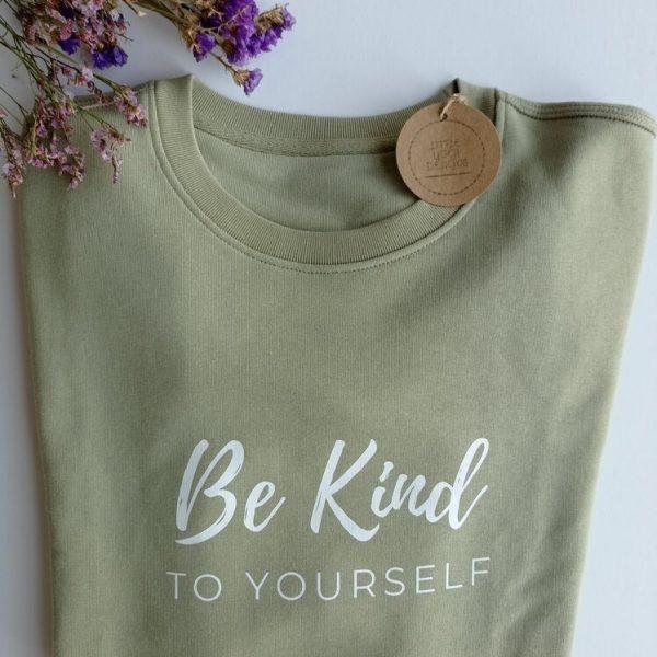 Be Kind To Yourself Sweatshirt (folded).RESIZE