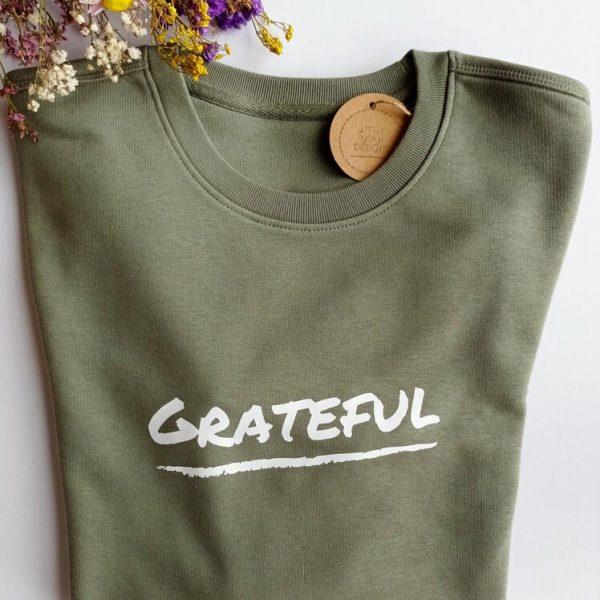Grateful Sweatshirt (Khaki Green).RESIZE