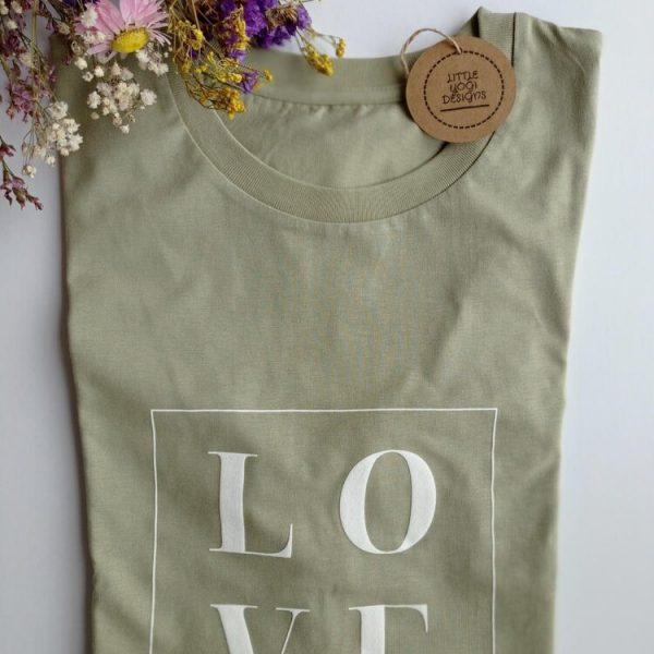 Love t-shirt Sage Green (folded).RESIZE